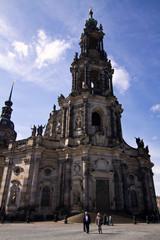 Fototapete - katholische Hofkirche, Desden