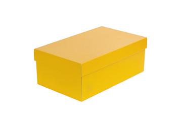 Caja de cartón amarilla