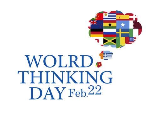 World thinking day, February 22 banner
