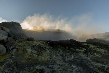 Volcanic gas