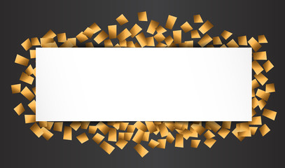 gold blank celebration background
