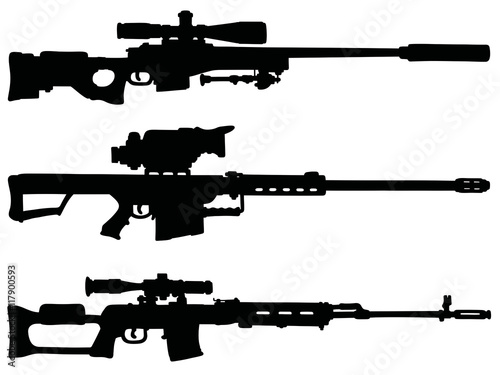 How To Draw A Sniper Rifle