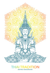 tradition thai Buddha Jewelry Set