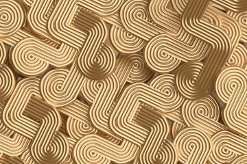 Golden decoration background spiral circle loop design