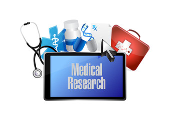 Medical research computer technology isolated