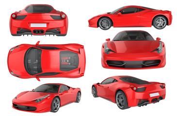 Red Sport Car bundle