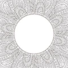 Hand-drawn frame-style paisley.