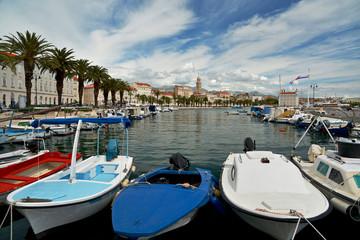 Split - esplanade and boat parking