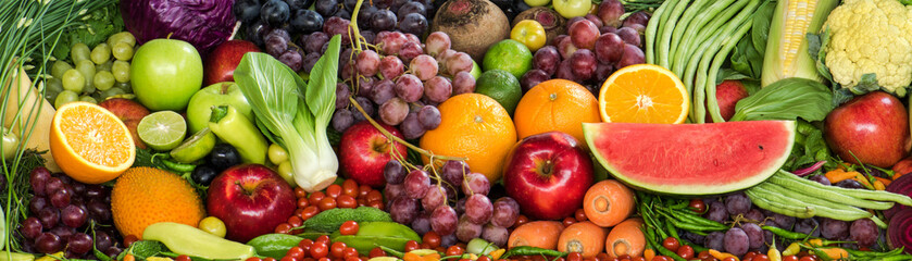 Poster Fruits Fresh fruits and vegetables for healthy