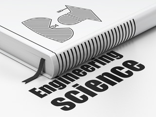 Science concept: book Student, Engineering Science on white background