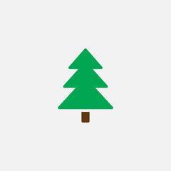 spruce icon vector, tree solid logo illustration, pictogram isolated on white