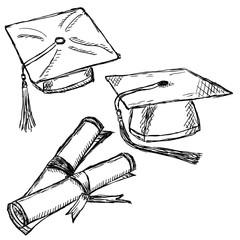Graduation cap doodle