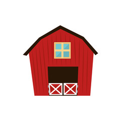 barn house farm ranch icon vector graphic
