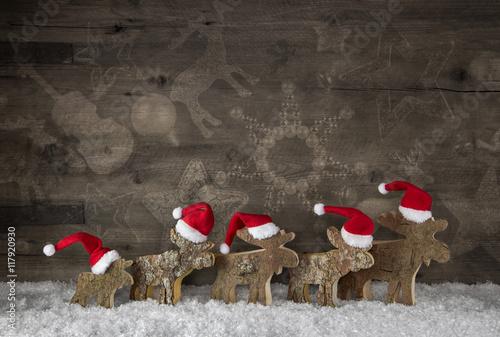 Handgemachte hirsche aus holz als dekoration zu for Dekoration zu weihnachten