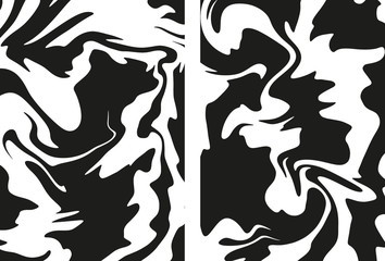 Black and white wavy backgrounds
