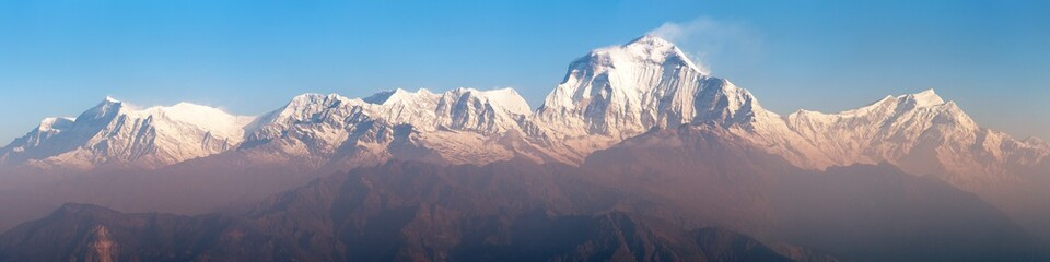 Morning panoramic view of Mount Dhaulagiri Wall mural