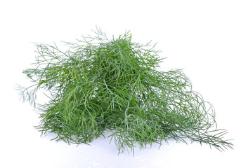 Dill on white background