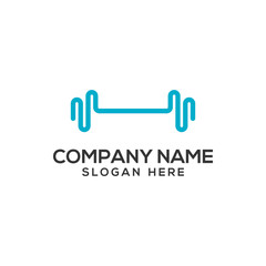 Fitness Gym Abstract Logo Vector