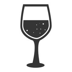 wineglass wine drink icon vector graphic