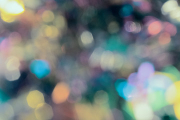 Abstract Bokeh blurred color light background