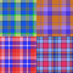 Set of tartan seamless generated textures