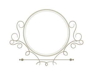 flat design decorative vintage frame icon vector illustration