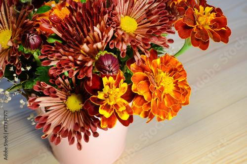 Хризантема осенний букет