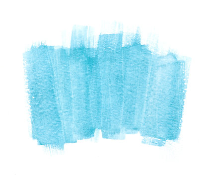 blue watercolor messy spot