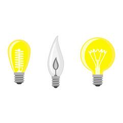 Lamp light bulb vector illustration.