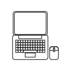 flat design laptop topview icon vector illustration