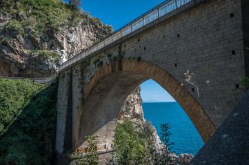 Wall Mural - Bridge on the Amalfi Drive