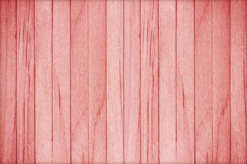 Wooden wall texture background, red color