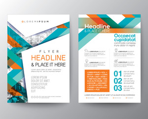 Abstract shape background for Poster Brochure Flyer design Layout