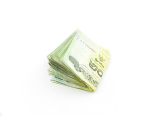 Thai Baht on a white background