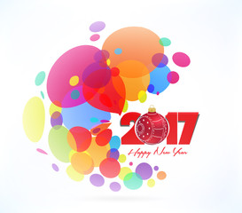 Christmas and happy new year 2017. Colorful abstract background
