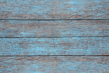 Light blue wooden texture in old and retro condition for backgroung