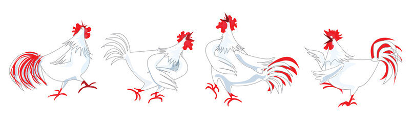 Chicken or Hen singing Cartoon Pattern Design