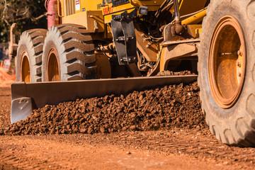 Grader Road Earthworks Construction
