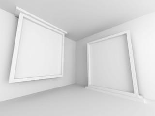 Empty Gallery Room Architecture Design Background