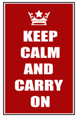Keep calm and carry on red