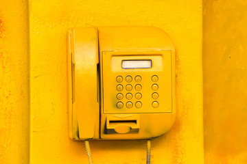 old street yellow phone screen buttons