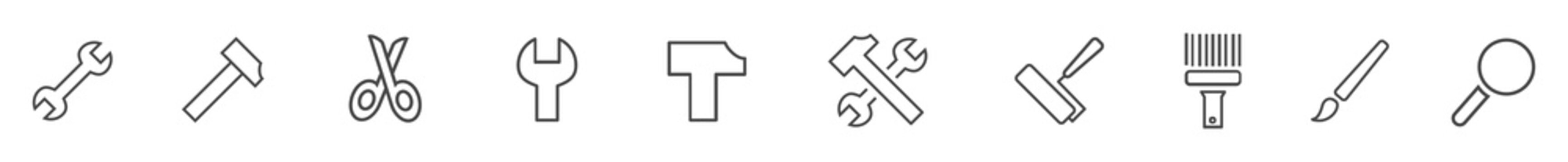 Tools Icons (Outline)