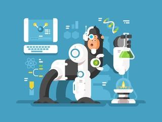 Robot monkey scientist