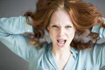 Wütende Frau