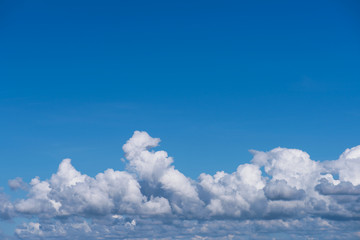 Canvas Prints Sky clouds as nature background with copy space. Cumulus clouds.