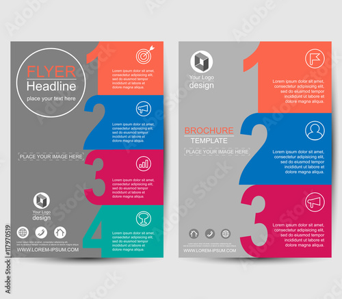 number style business layout annual report brochure flyer template leaflet cover presentation abstract background