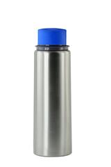 Grey metal water flask