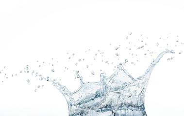 beautiful splash of water blue drops