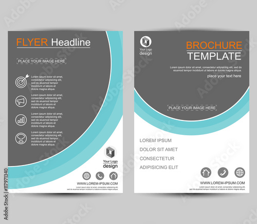 Geometric Brochure Circle Style Flyer Design Template Vector