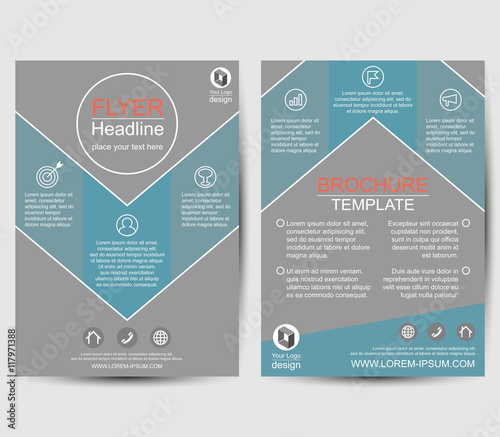 Geometric Business Layout Annual Report Brochure Flyer Template